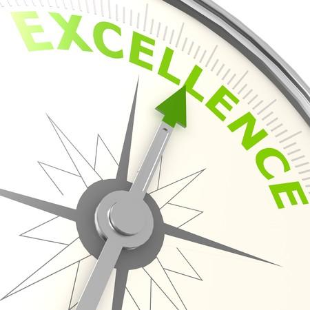 Excellence compass Standard-Bild