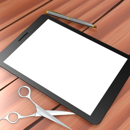 blank tablet: Blank tablet Stock Photo