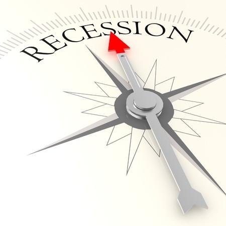 recession: Recession compass Stock Photo