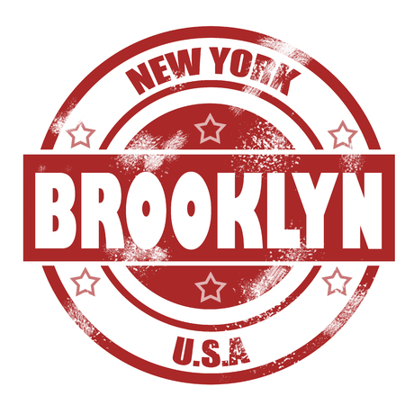 Brooklyn Stamp image with hi-res rendered artwork that could be used for any graphic design. photo