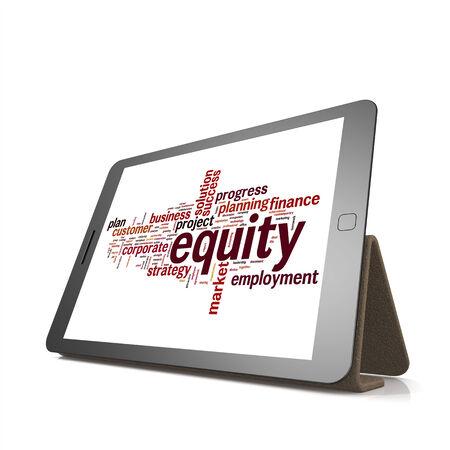 equidad: Equidad nube de palabras tablilla con hi-res prestados obra que podr�a ser utilizado para cualquier dise�o gr�fico.