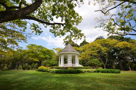 A gazebo known as The Bandstand in Singapore Botanic Gardens. Stock Photo - 36372162