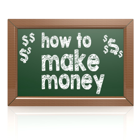 How to Make Money on a chalkboard image with hi-res rendered artwork that could be used for any graphic design. Reklamní fotografie - 36310740