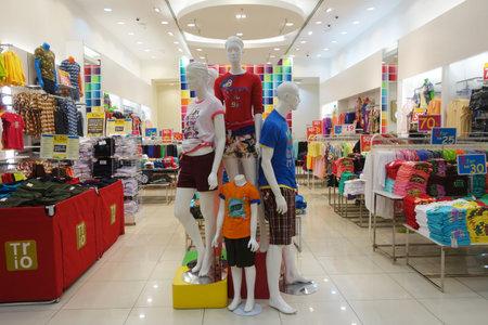 hanged woman: Ladies Wear section in AEON Mall in Johor Bahru, Malaysia