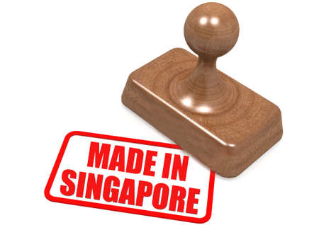 Made in Singapore stamp image with hi-res rendered artwork that could be used for any graphic design. photo