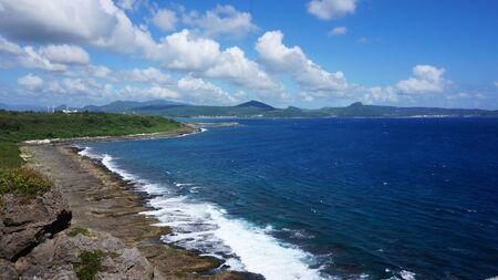the east coast: Scenic east coast shore line of Taiwan Stock Photo