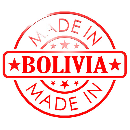 Made in Bolivia red seal image with hi-res rendered artwork that could be used for any graphic design. photo