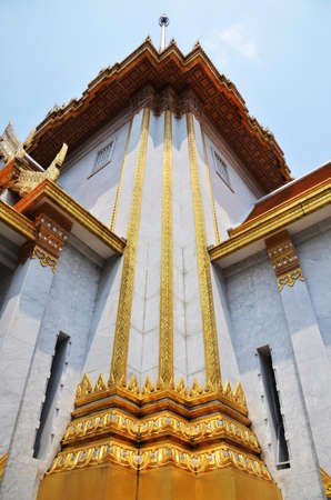 wat traimit: Wat Traimit (The Temple of the Golden Buddha) in Bangkok, Thailand Stock Photo