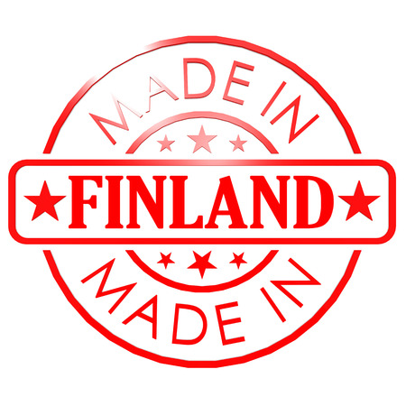 made in finland: Made in Finland red seal Stock Photo