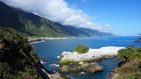 shore line: Scenic east coast shore line of Taiwan Stock Photo