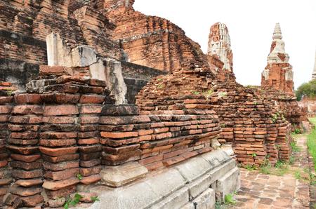 stu: Ruin brick temple of Chaiwattanaram temple in Ayutthaya Historical Park,