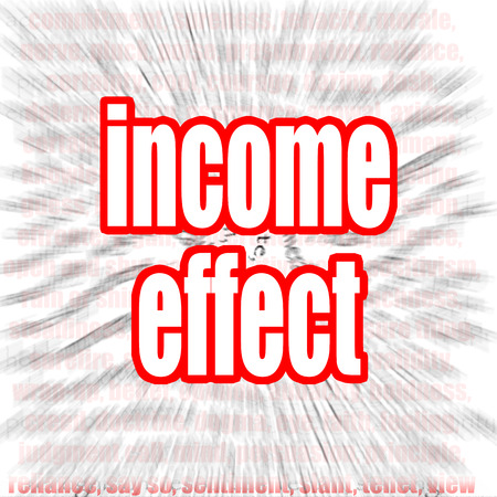exemptions: Income effect word image with hi-res rendered artwork that could be used for any graphic design. Stock Photo