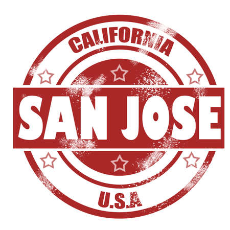 san jose: San Jose Stamp image with hi-res rendered artwork that could be used for any graphic design.
