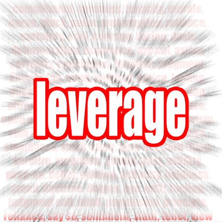 leverage: Leverage word cloud image with hi-res rendered artwork that could be used for any graphic design. Stock Photo