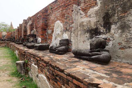 chaimongkol: Ancient Buddha statue at Wat Yai Chaimongkol in the historical city, Ayutthaya, Thailand