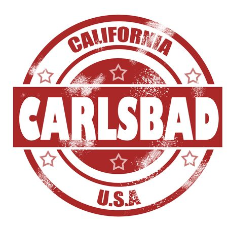 carlsbad: Carlsbad Stamp image with hi-res rendered artwork that could be used for any graphic design.