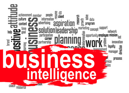analytical: Business intelligence word cloud image with hi-res rendered artwork that could be used for any graphic design.