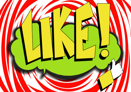 could: Pop Art comics icon with like word image with hi-res rendered artwork that could be used for any graphic design. Stock Photo