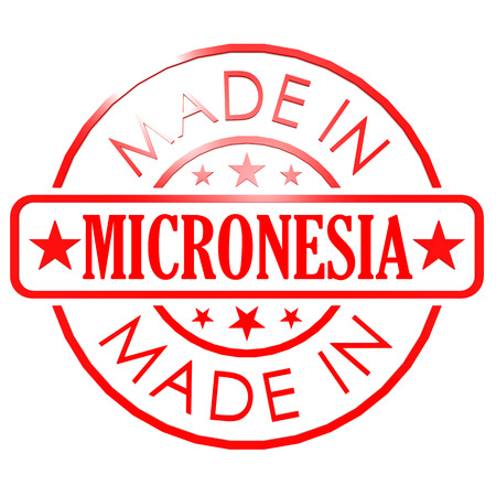 red seal: Made in Micronesia red seal Stock Photo