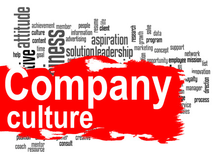 corporate culture: Company culture word cloud image with hi-res rendered artwork that could be used for any graphic design.