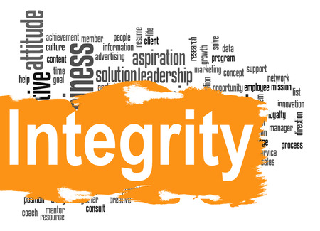 integrity: Integrity word cloud image with hi-res rendered artwork that could be used for any graphic design.