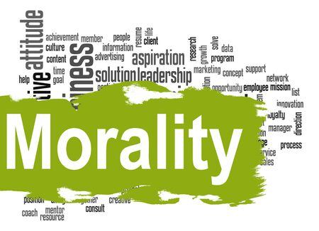 morality: Morality word cloud image with hi-res rendered artwork that could be used for any graphic design.