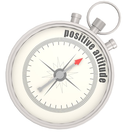 Positive attitude compass image with hi-res rendered artwork that could be used for any graphic design. photo