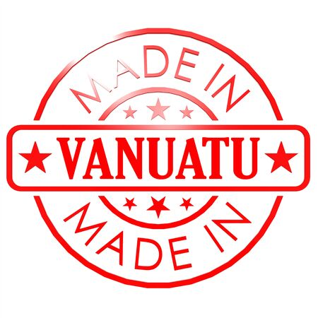 could: Made in Vanuatu red seal image with hi-res rendered artwork that could be used for any graphic design.