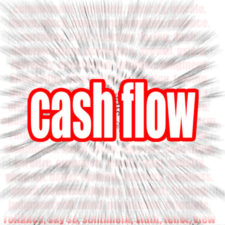 year financial statements: Cash flow word cloud image with hi-res rendered artwork that could be used for any graphic design.