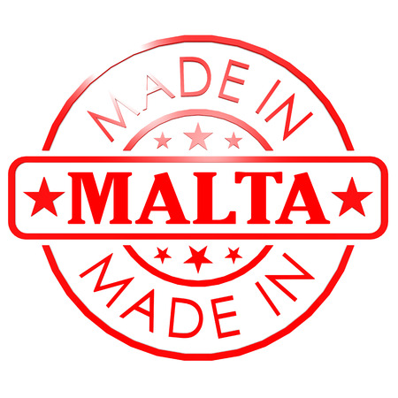 red seal: Made in Malta red seal Stock Photo