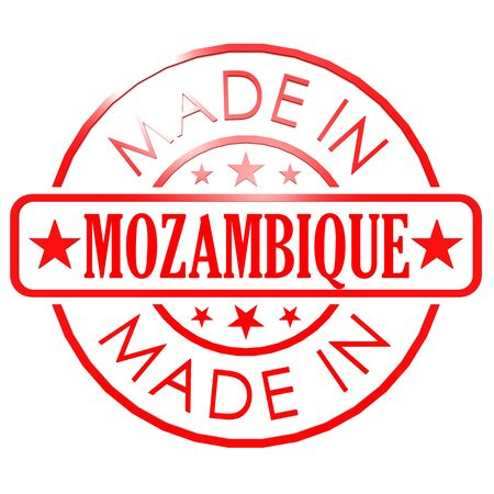 red seal: Made in Mozambique red seal Stock Photo
