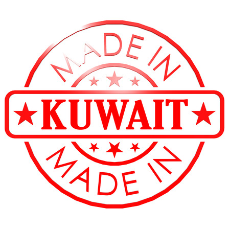 red seal: Made in Kuwait red seal image with hi-res rendered artwork that could be used for any graphic design.