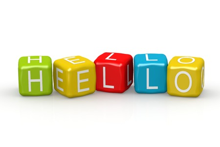 buzzword: Hello colorful buzzword image with hi-res rendered artwork that could be used for any graphic design. Stock Photo