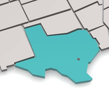 intricacy: Texas map with white background image with hi-res rendered artwork that could be used for any graphic design.
