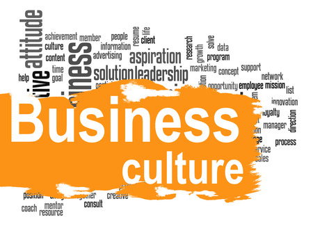 Business culture word cloud image with hi-res rendered artwork that could be used for any graphic design.