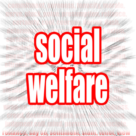 jobless: Social welfare word cloud image with hi-res rendered artwork that could be used for any graphic design. Stock Photo