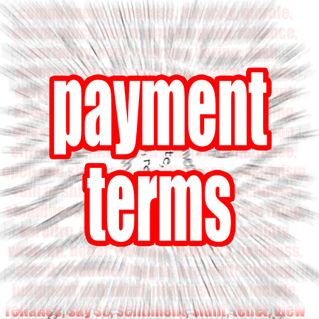 fixed rate: Payment terms word cloud image with hi-res rendered artwork that could be used for any graphic design. Stock Photo