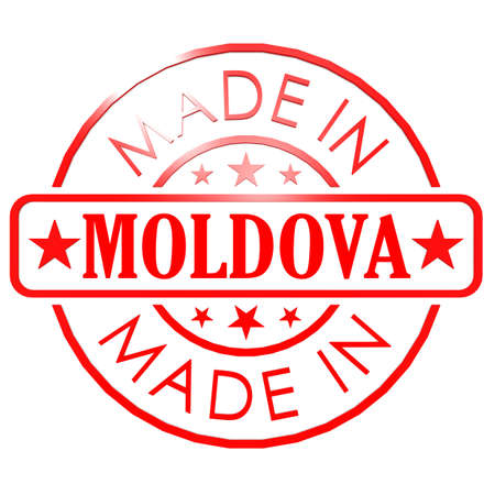 could: Made in Moldova red seal image with hi-res rendered artwork that could be used for any graphic design.