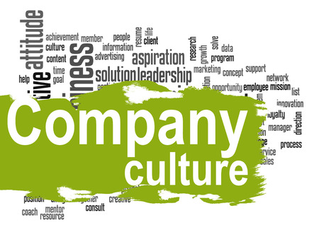 Company culture word cloud image with hi-res rendered artwork that could be used for any graphic design. Banco de Imagens - 40925161