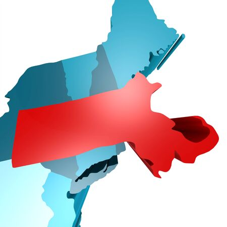 could: Massachusetts image with hi-res rendered artwork that could be used for any graphic design.