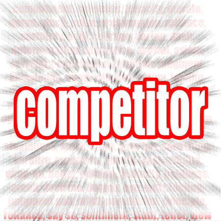 competitor: Competitor word cloud image with hi-res rendered artwork that could be used for any graphic design. Stock Photo