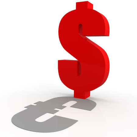dealings: Dollar and Euro sign image with hi-res rendered artwork that could be used for any graphic design.