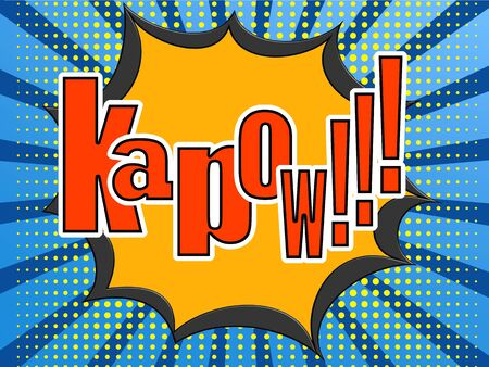 kapow: Kapow comic speech bubble image with hi-res rendered artwork that could be used for any graphic design.