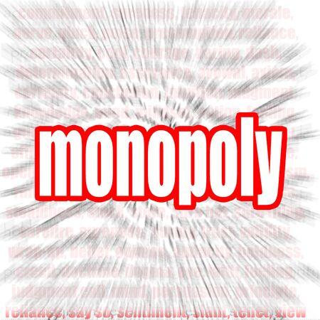 competitividad: Monopoly imagen nube de palabras con hi-res prestados obra que podría ser utilizado para cualquier diseño gráfico. Foto de archivo