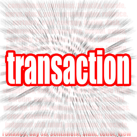 echange: Transaction word cloud image with hi-res rendered artwork that could be used for any graphic design.
