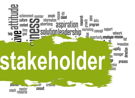 Stakeholder word cloud image with hi-res rendered artwork that could be used for any graphic design.