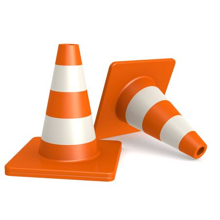 could: Traffic cones image with hi-res rendered artwork that could be used for any graphic design.