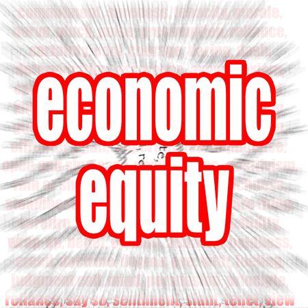 equidad: Imagen Econ�mica equidad nube de palabras con hi-res prestados obra que podr�a ser utilizado para cualquier dise�o gr�fico.