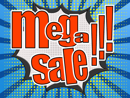 bomb price: Mega sale comic speech bubble image with hi-res rendered artwork that could be used for any graphic design.