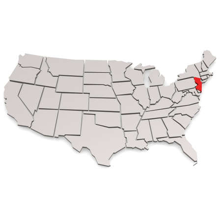 rural areas: New Jersey image with hi-res rendered artwork that could be used for any graphic design. Stock Photo